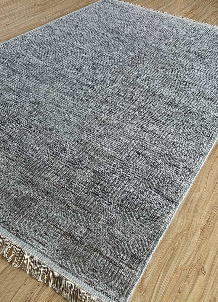 cleo beige and brown wool and viscose hand knotted Rug - FloorShot