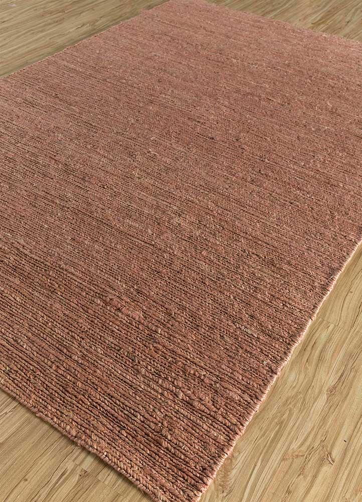 abrash red and orange jute and hemp flat weaves Rug - FloorShot