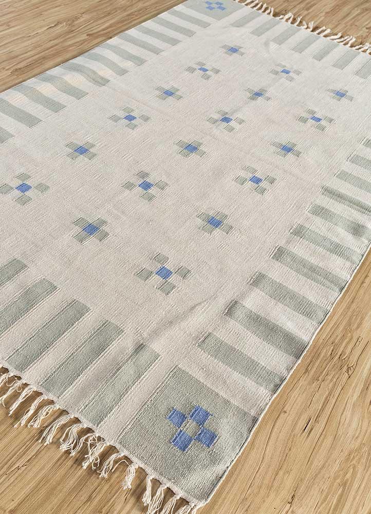 anatolia ivory cotton flat weaves Rug - FloorShot