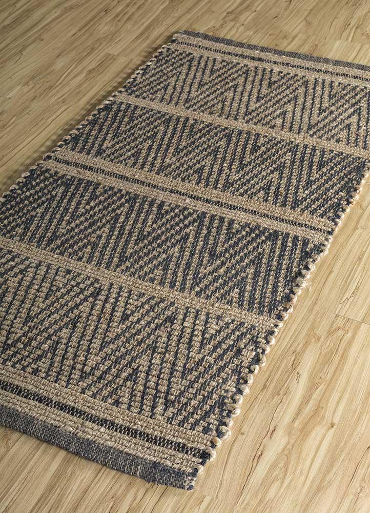 anatolia beige and brown jute and hemp jute rugs Rug - FloorShot