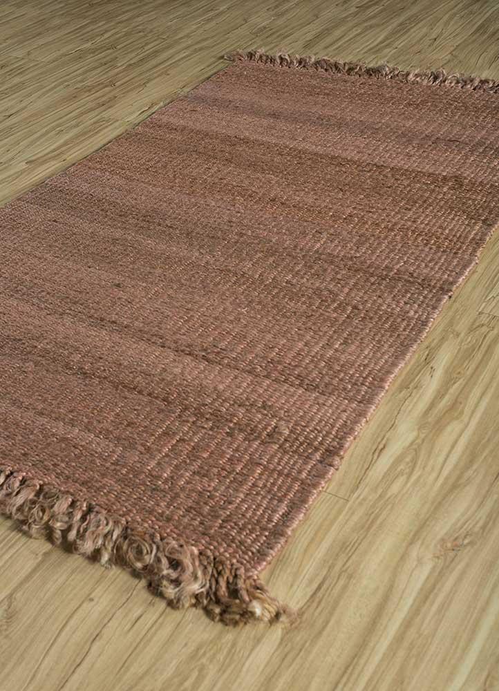 abrash beige and brown jute and hemp flat weaves Rug - FloorShot