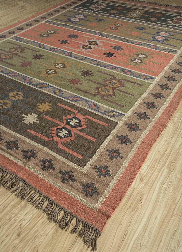 bedouin pink and purple jute and hemp jute rugs Rug - FloorShot