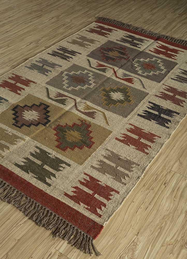 bedouin ivory jute and hemp flat weaves Rug - FloorShot