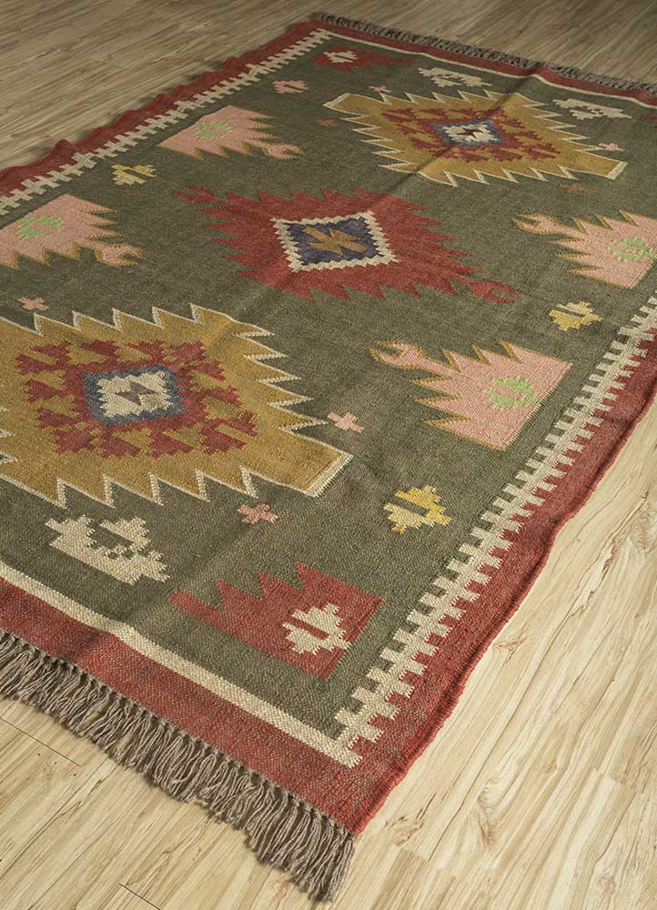 bedouin green jute and hemp jute rugs Rug - FloorShot