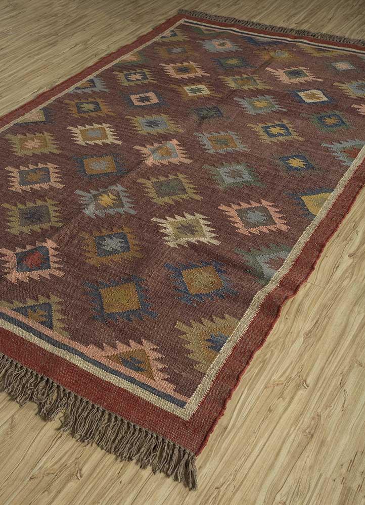 bedouin beige and brown jute and hemp jute rugs Rug - FloorShot