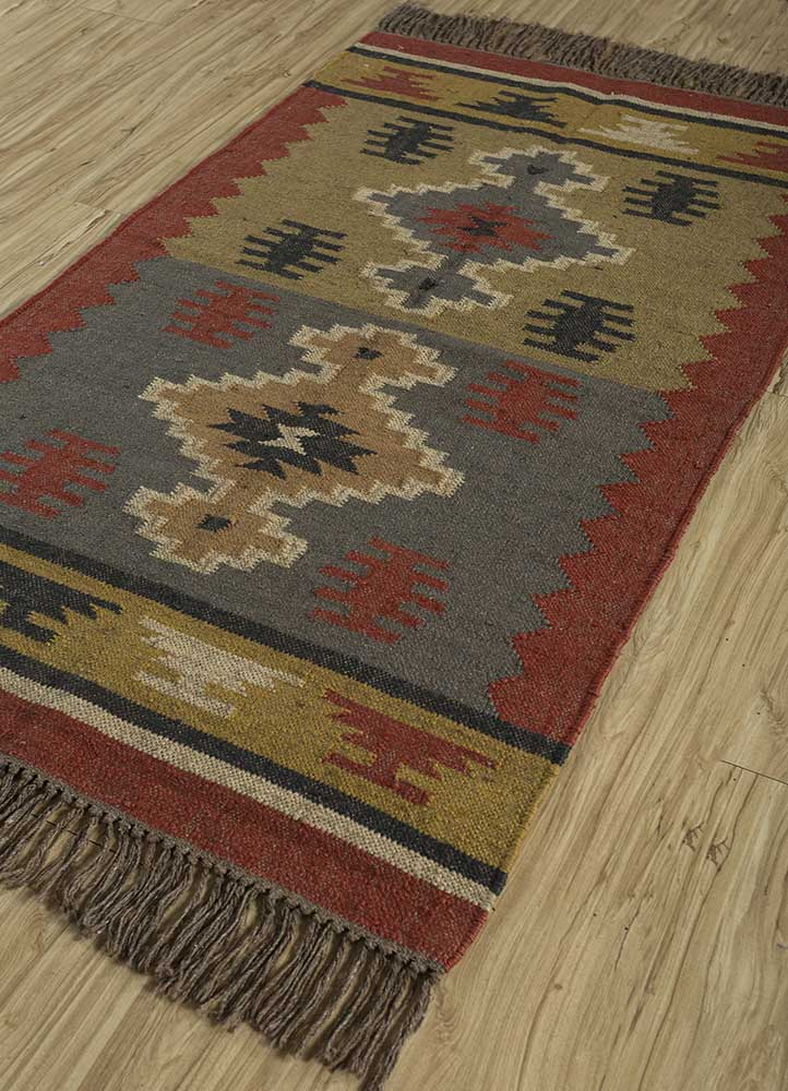 bedouin gold jute and hemp jute rugs Rug - FloorShot