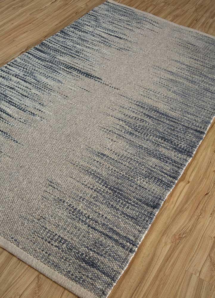 abrash grey and black wool flat weaves Rug - FloorShot