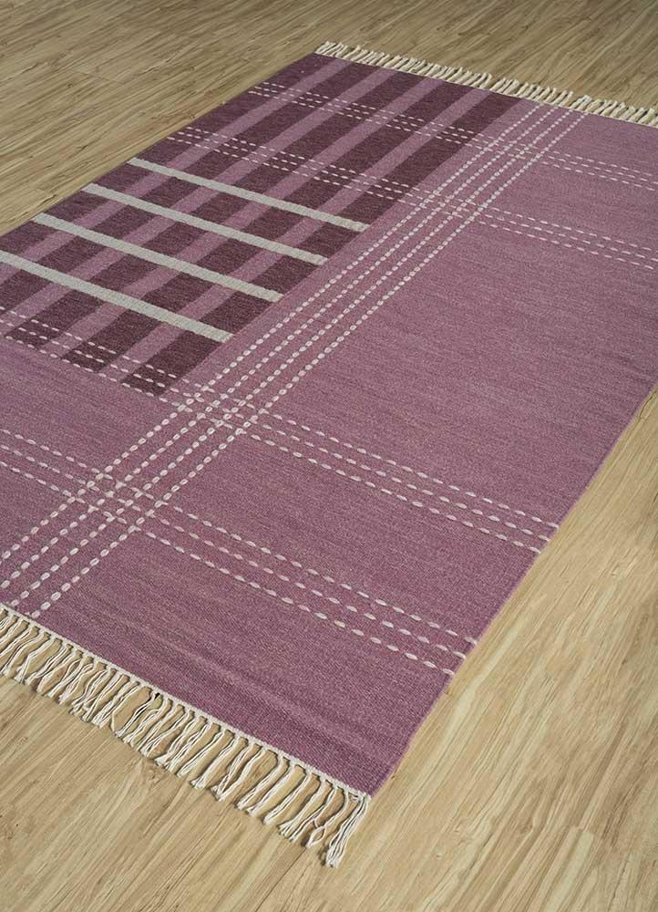 anatolia red and orange wool flat weaves Rug - FloorShot