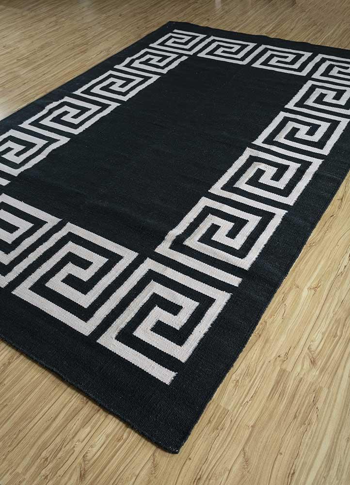 anatolia blue wool flat weaves Rug - FloorShot