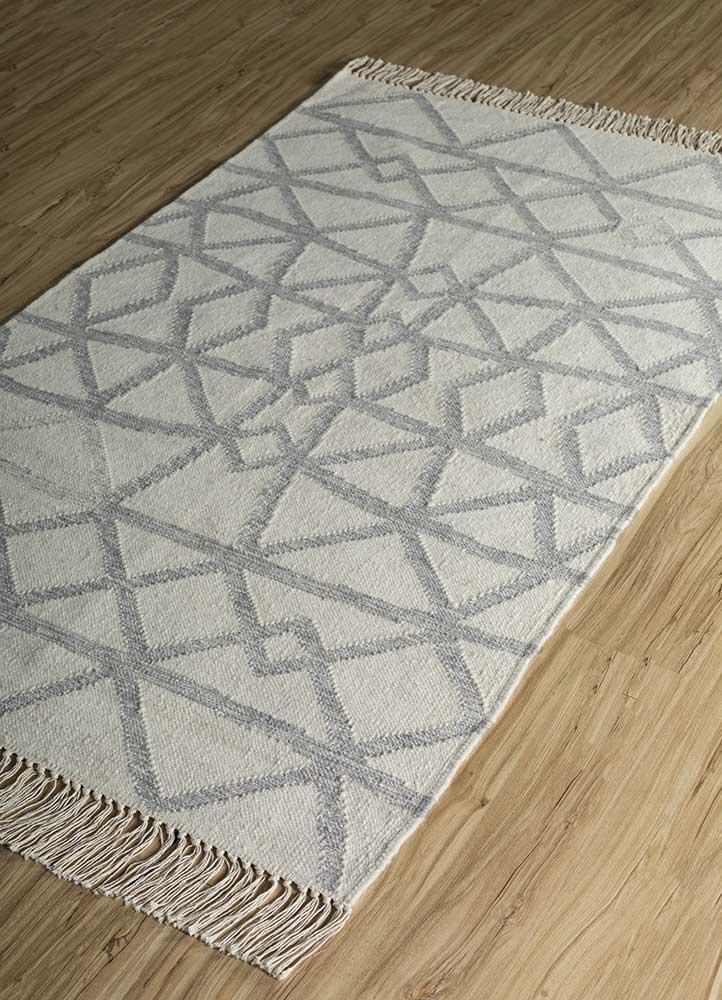 souk ivory wool flat weaves Rug - FloorShot