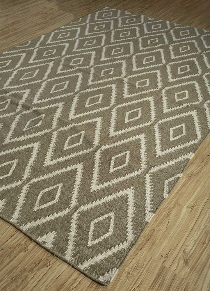 anatolia gold wool flat weaves Rug - FloorShot