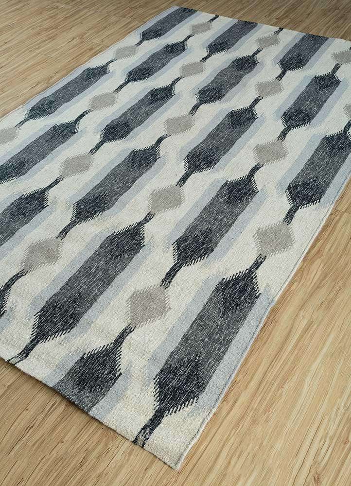 anatolia ivory wool flat weaves Rug - FloorShot