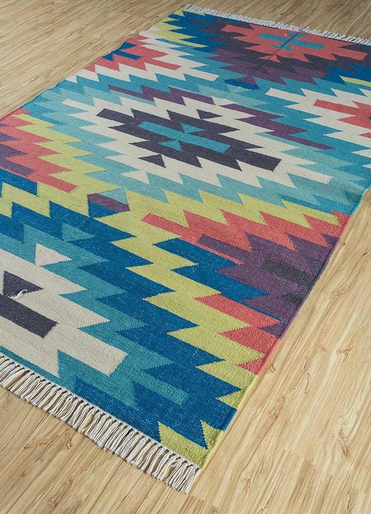 bedouin gold wool flat weaves Rug - FloorShot