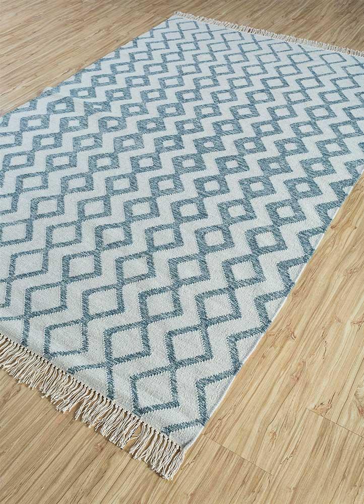 indusbar gold wool flat weaves Rug - FloorShot
