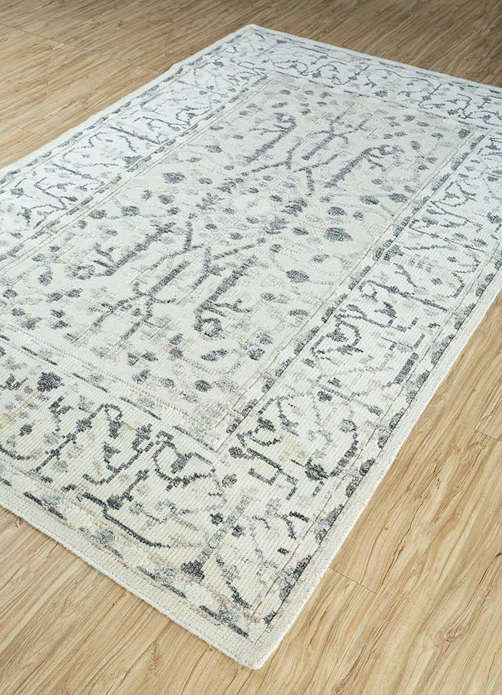 heritage ivory wool flat weaves Rug - FloorShot