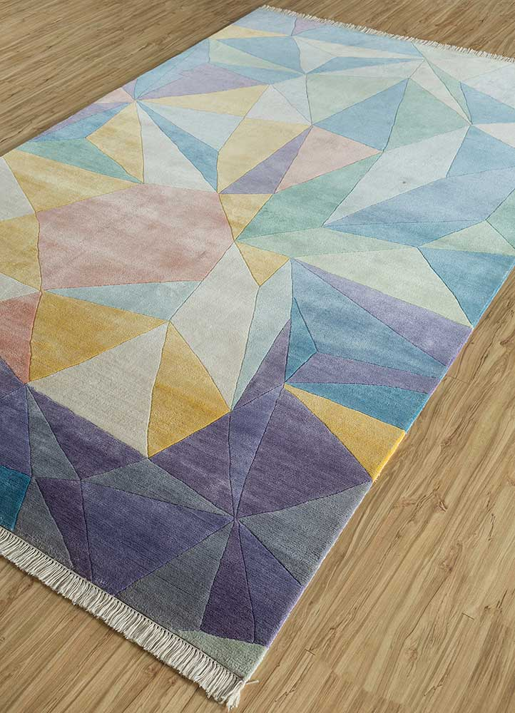 geode ivory others hand knotted Rug - FloorShot