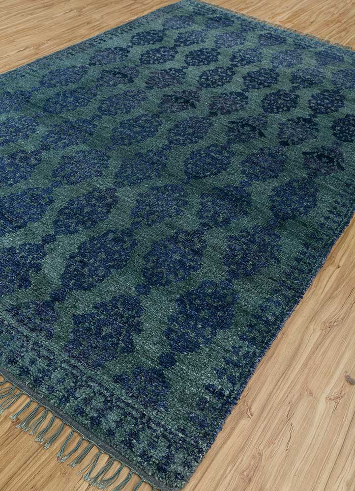 liberty green others hand knotted Rug - FloorShot
