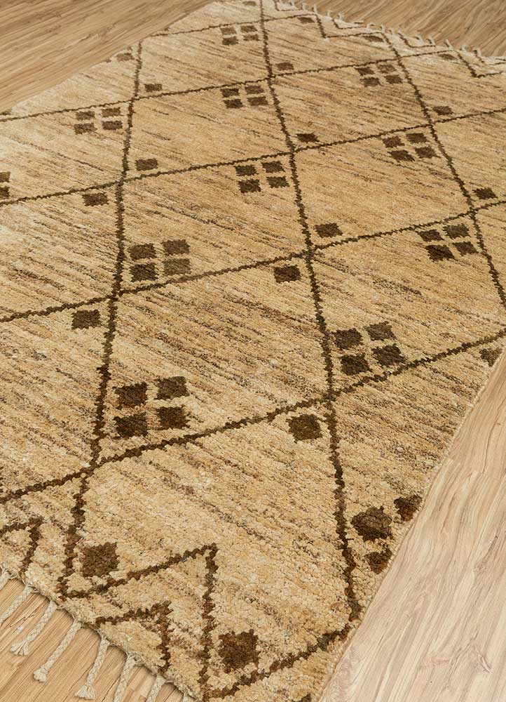 spatial beige and brown jute and hemp jute rugs Rug - FloorShot