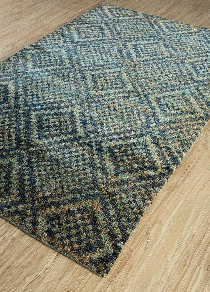 anatolia blue jute and hemp shag Rug - FloorShot