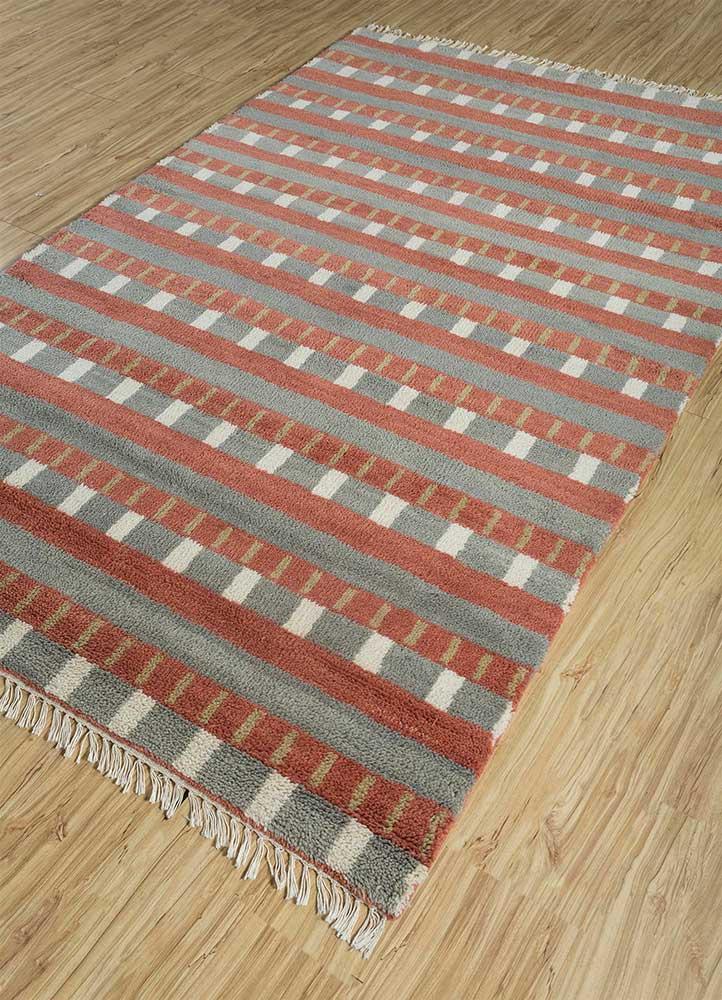 cleo blue wool hand knotted Rug - FloorShot