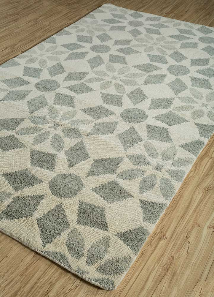 pansy ivory wool hand knotted Rug - FloorShot
