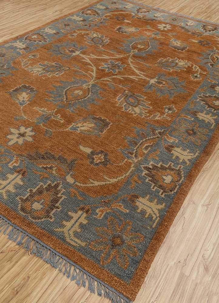 biscayne blue wool hand knotted Rug - FloorShot