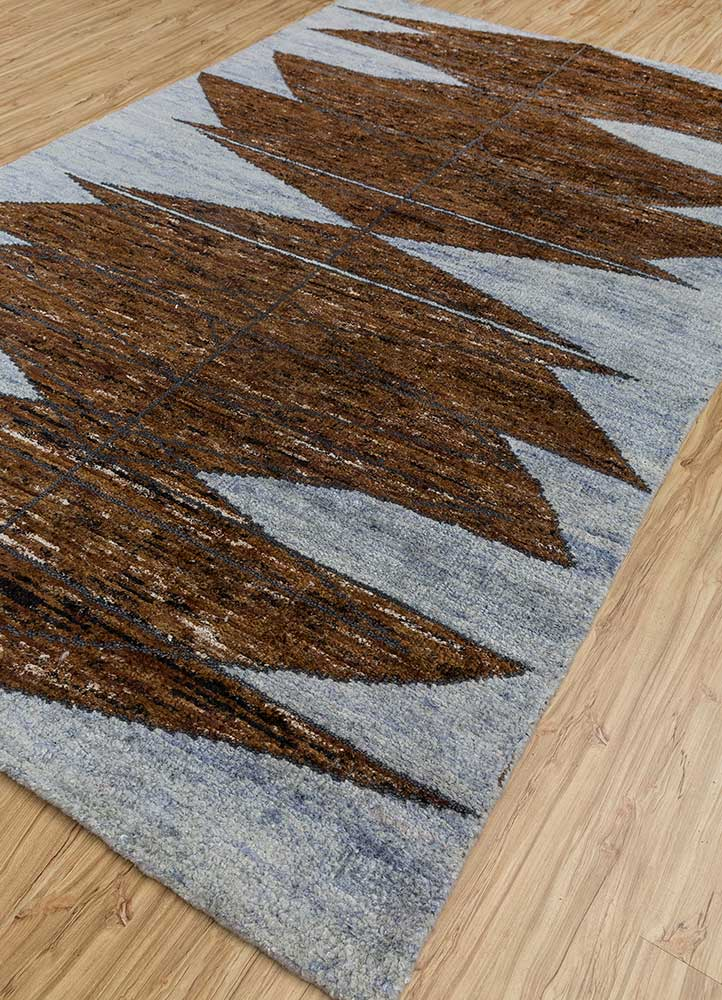 zuri red and orange others hand knotted Rug - FloorShot