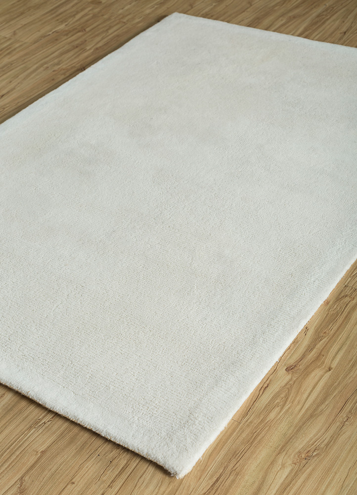 shudd ivory polyester hand tufted Rug - FloorShot