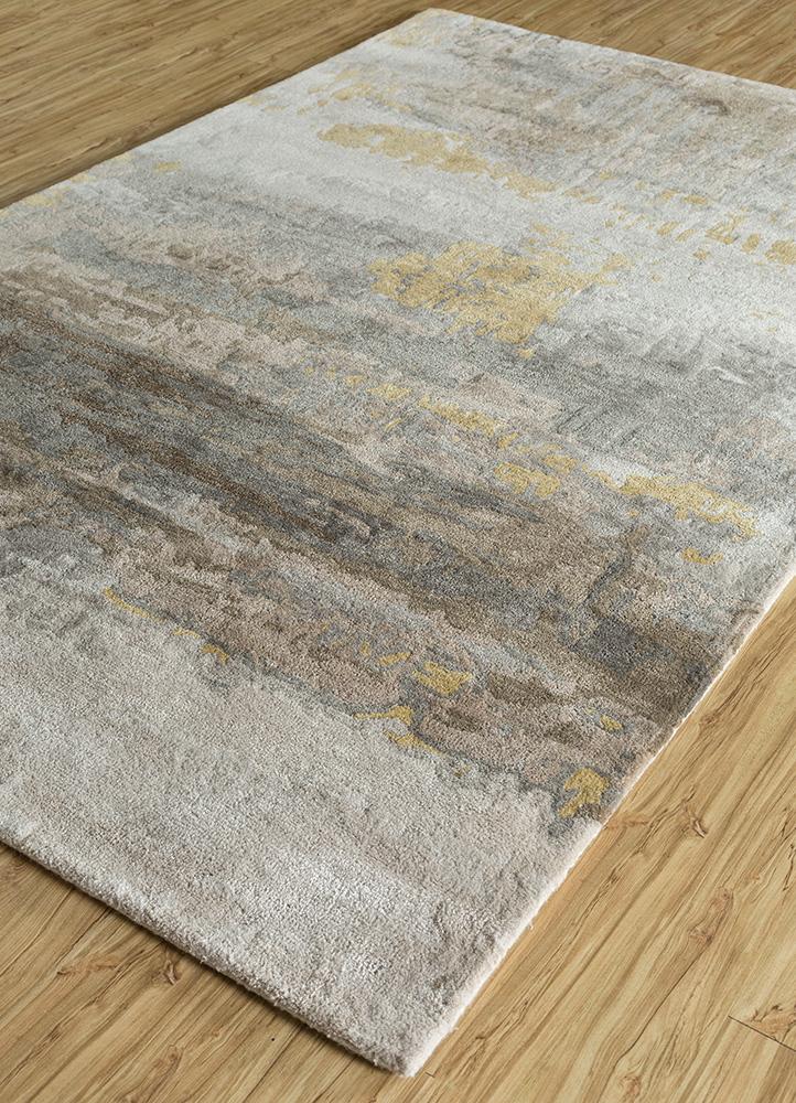 genesis ivory wool and viscose hand tufted Rug - FloorShot