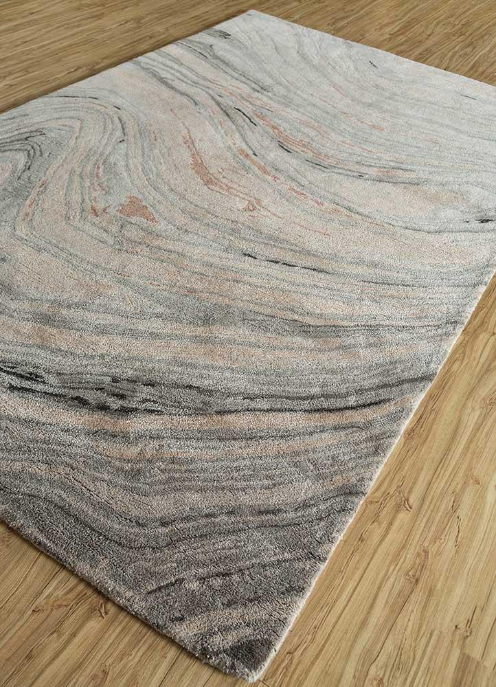 genesis red and orange wool and viscose hand tufted Rug - FloorShot