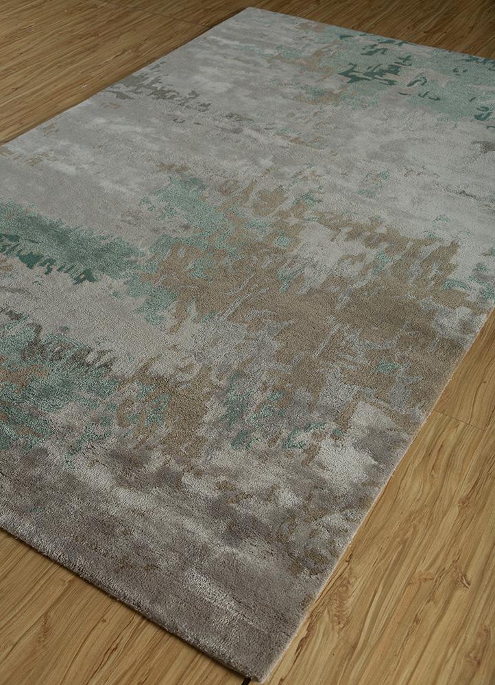 genesis grey and black wool and viscose hand tufted Rug - FloorShot