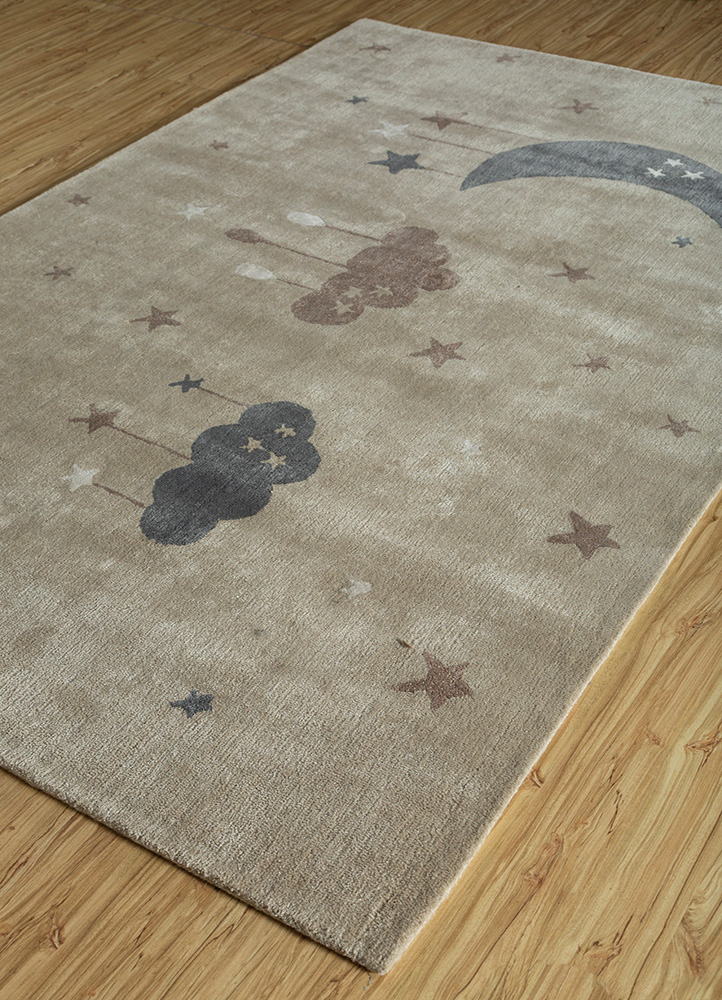 confetti ivory wool and viscose hand tufted Rug - FloorShot