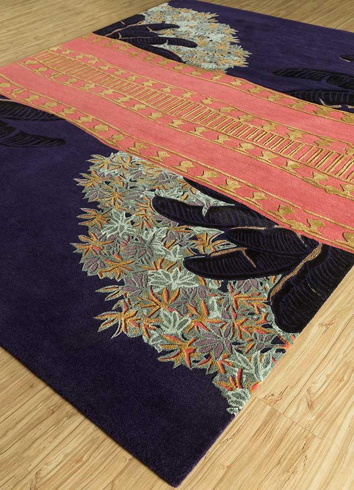jaipur wunderkammer blue wool and viscose hand tufted Rug - FloorShot