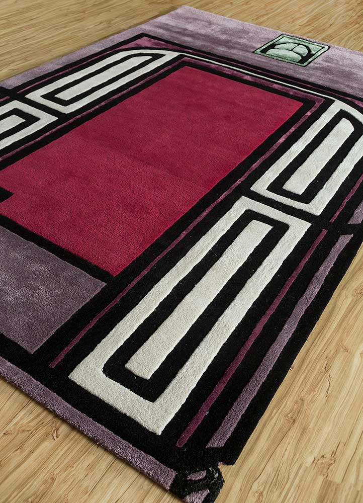 concoction pink and purple wool and viscose hand tufted Rug - FloorShot