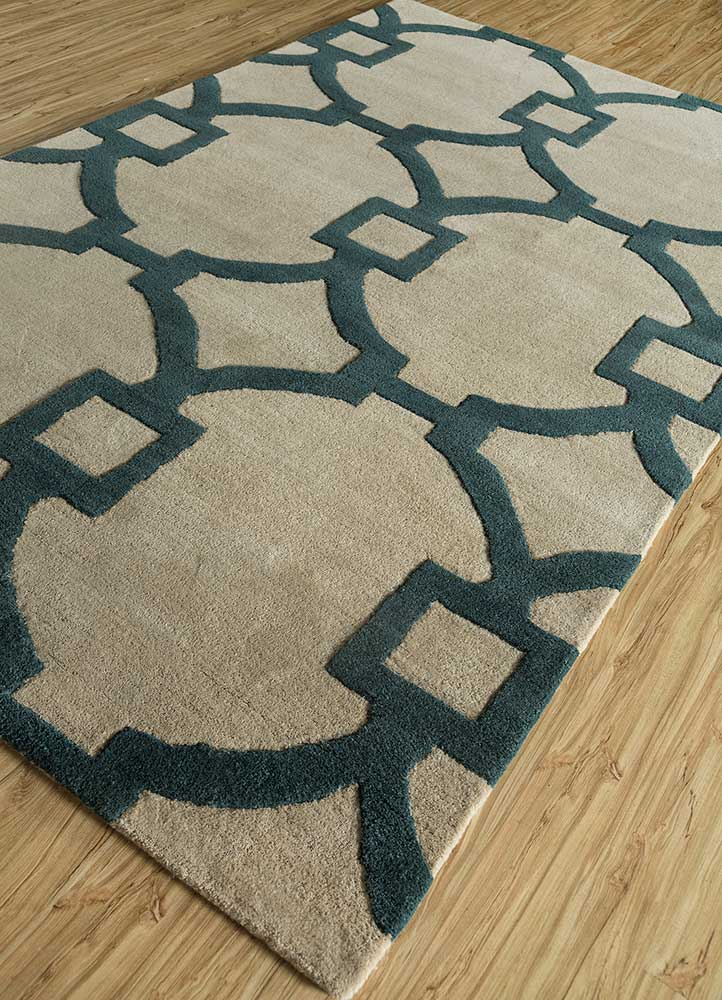 contour red and orange wool and viscose hand tufted Rug - FloorShot