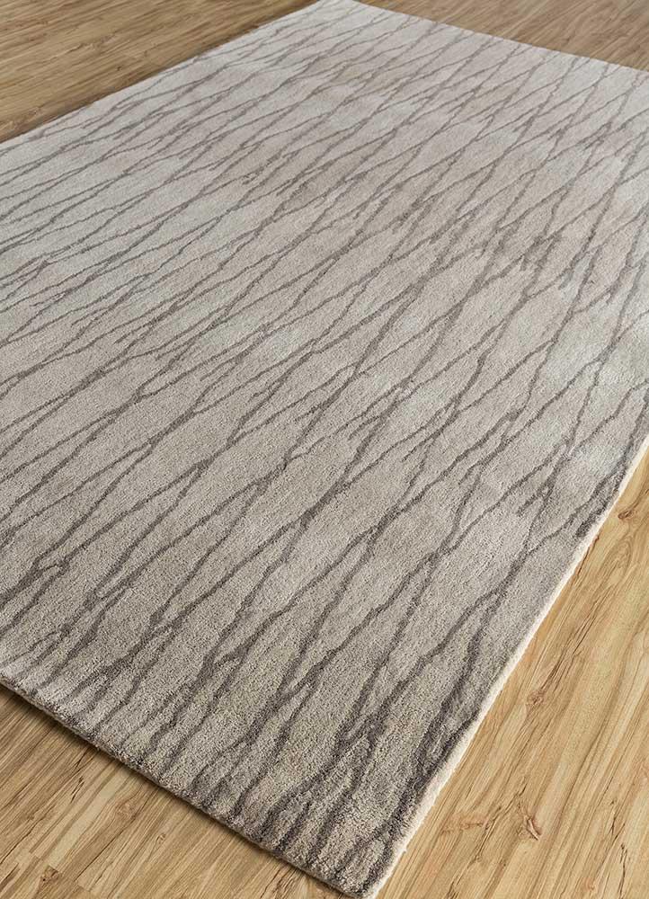 contour ivory wool hand tufted Rug - FloorShot
