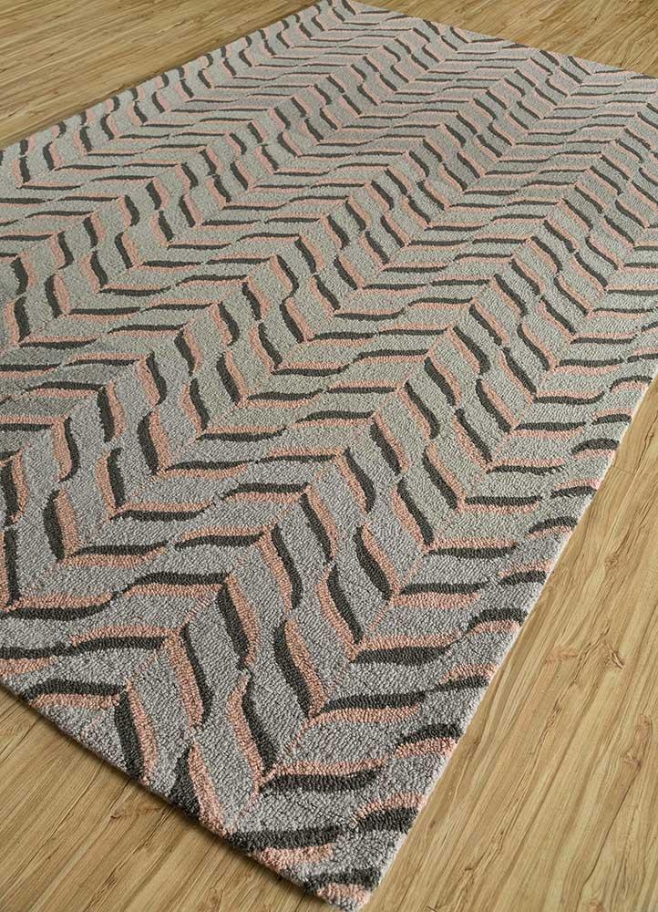 coastal beige and brown wool and viscose hand tufted Rug - FloorShot
