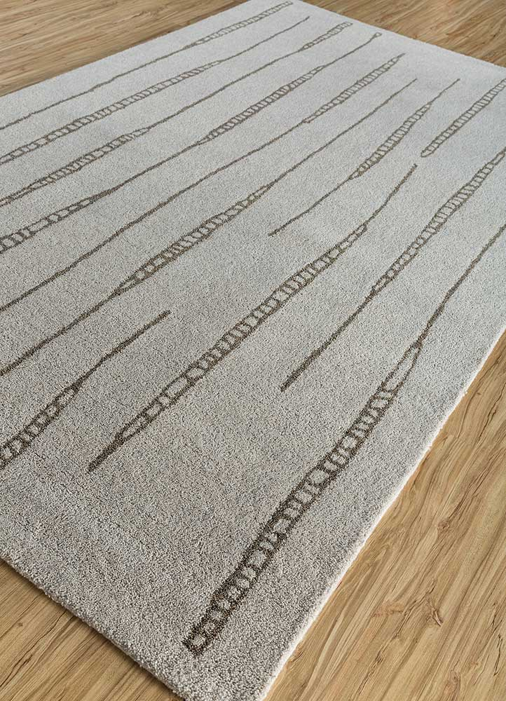 shudd ivory wool hand tufted Rug - FloorShot