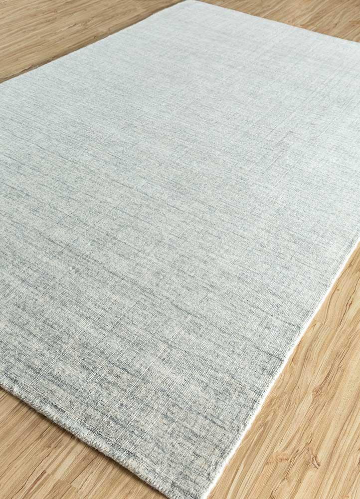 eron blue wool hand loom Rug - FloorShot
