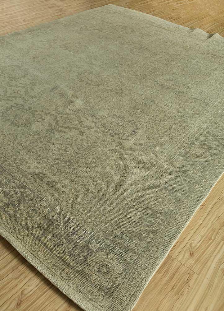 atlantis gold wool hand knotted Rug - FloorShot