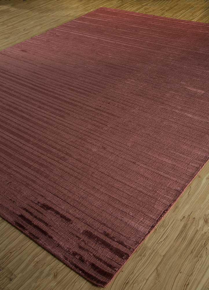basis red and orange viscose hand loom Rug - FloorShot