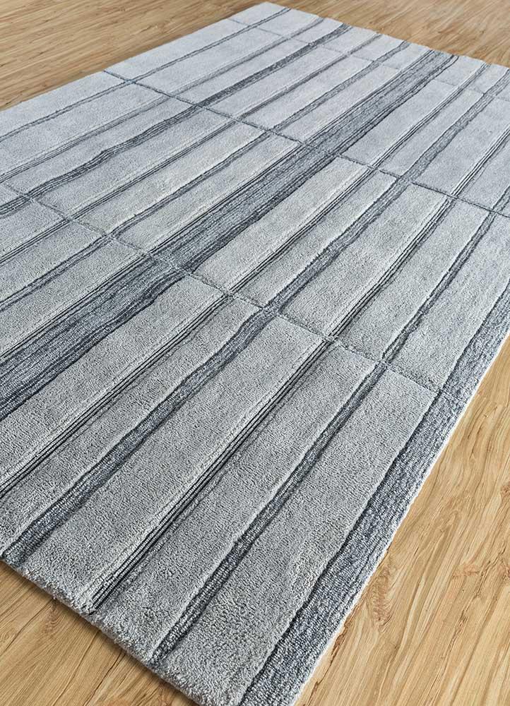 transcend blue polyester hand tufted Rug - FloorShot