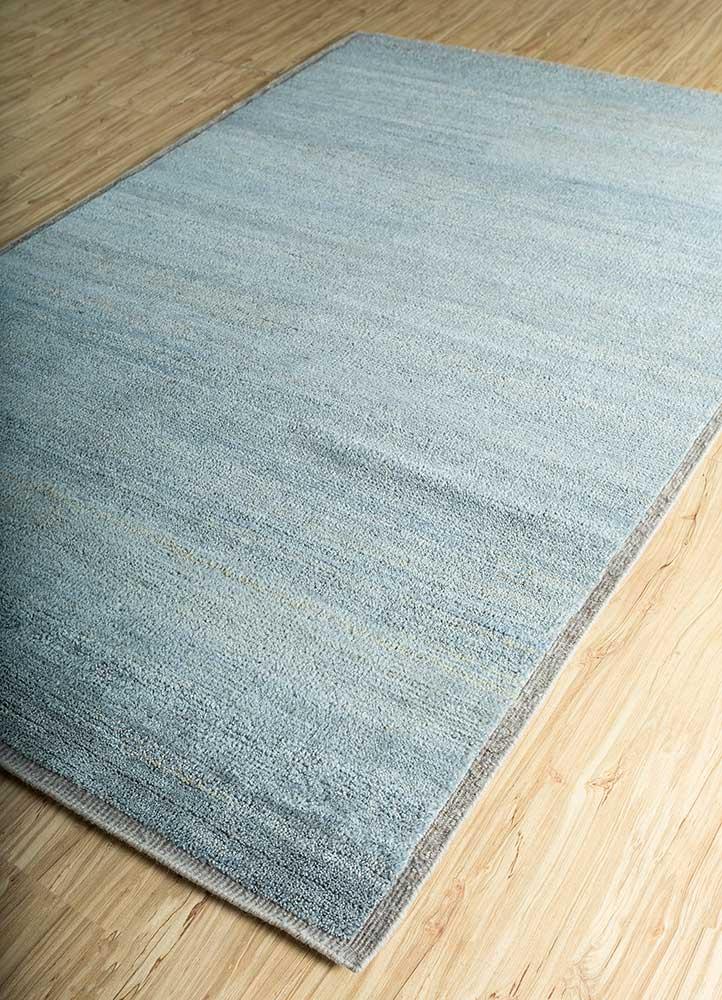 legion blue wool hand knotted Rug - FloorShot