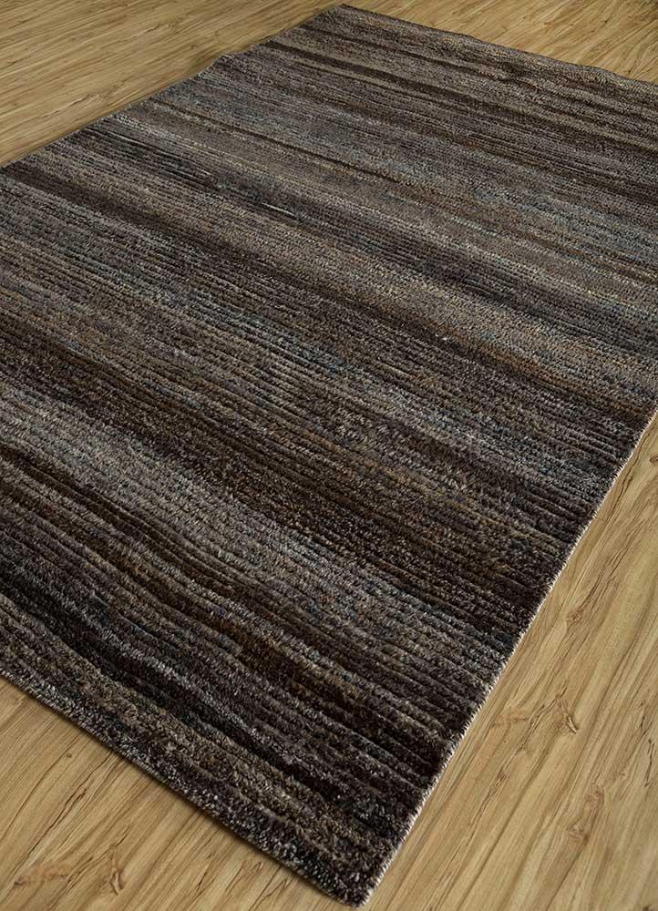 legion grey and black wool hand knotted Rug - FloorShot