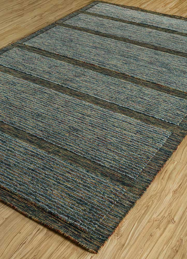 tesoro gold wool hand loom Rug - FloorShot