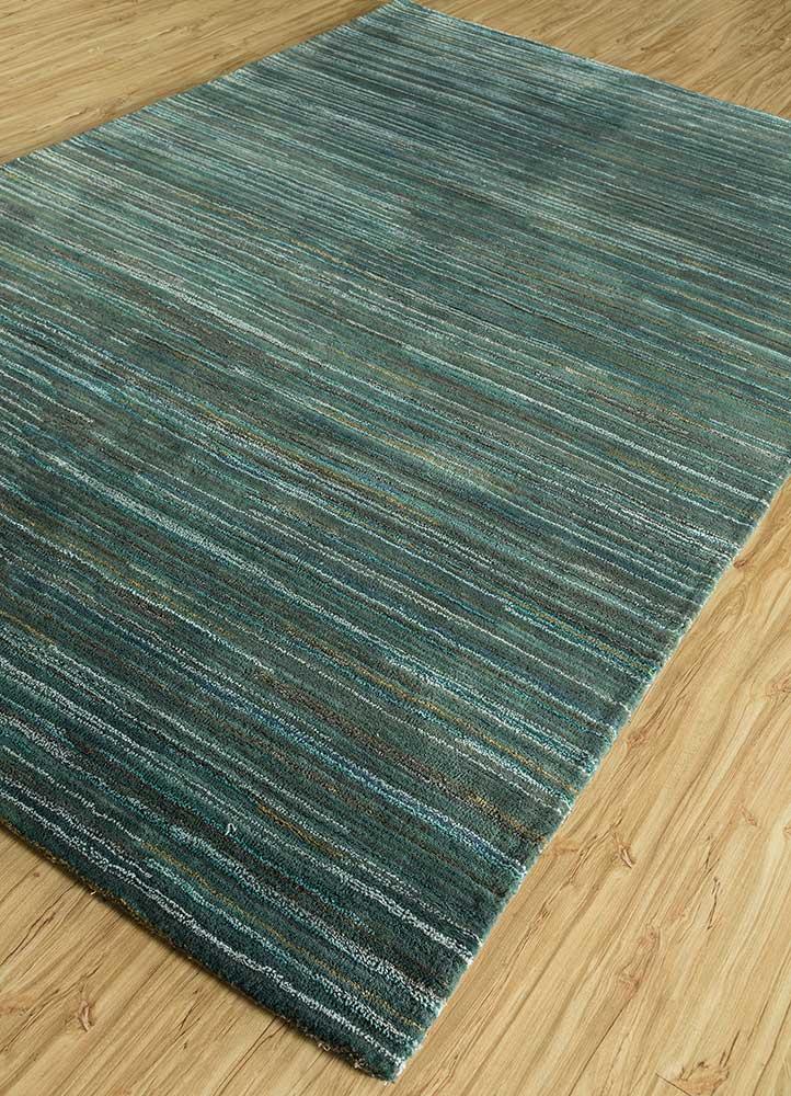 shudd grey and black wool and viscose hand tufted Rug - FloorShot