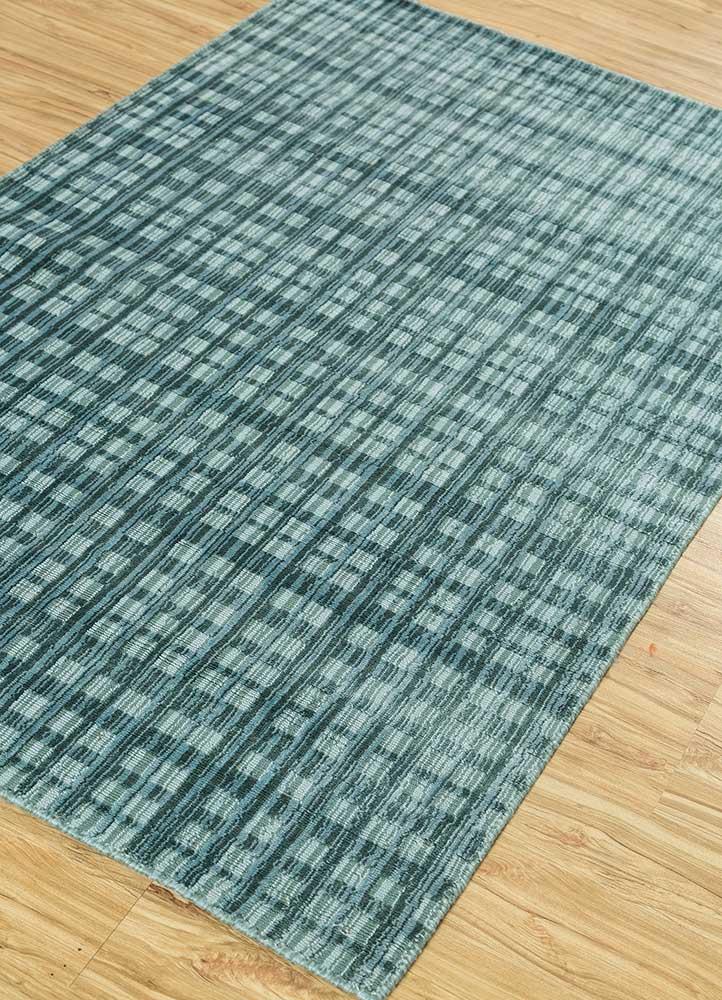tesoro blue viscose hand loom Rug - FloorShot