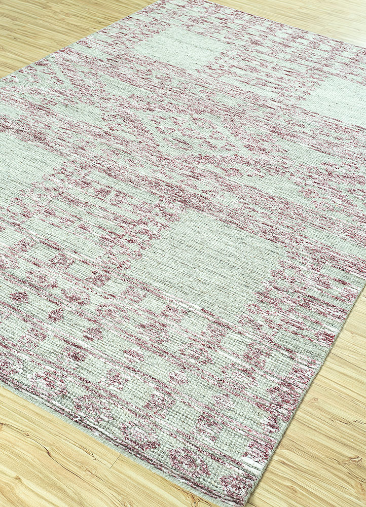 revolution grey and black wool and viscose hand knotted Rug - FloorShot