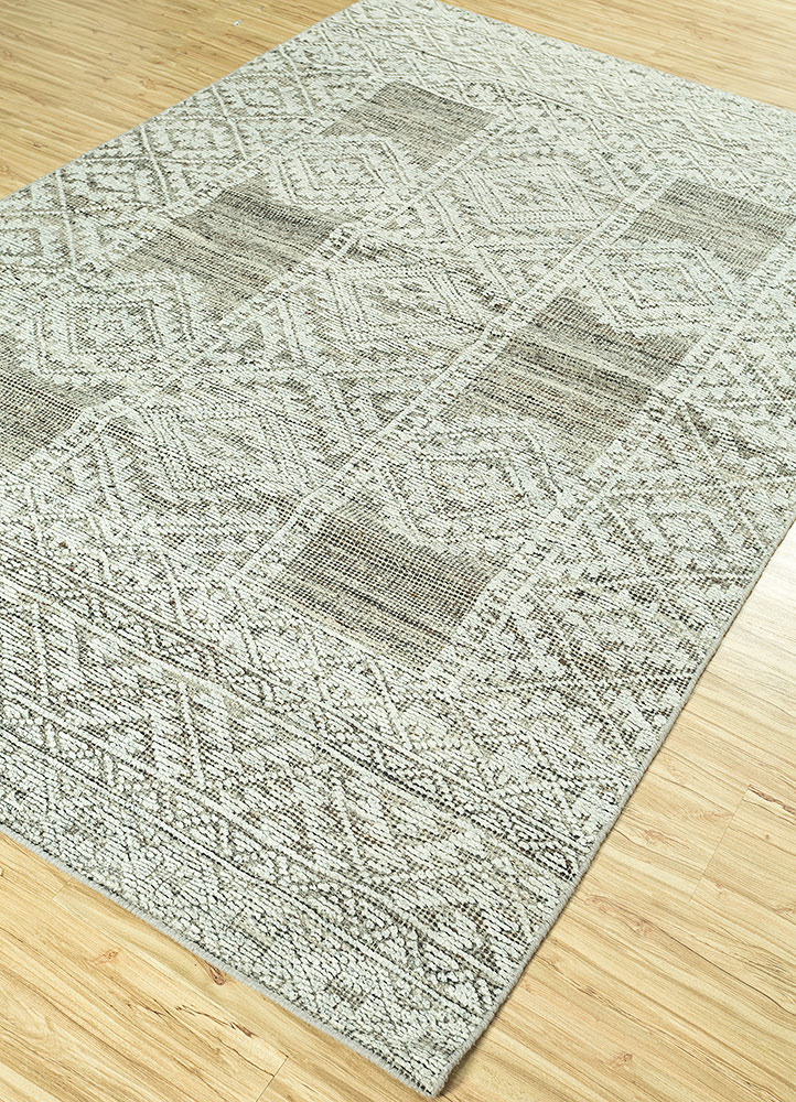 revolution blue wool and viscose hand knotted Rug - FloorShot
