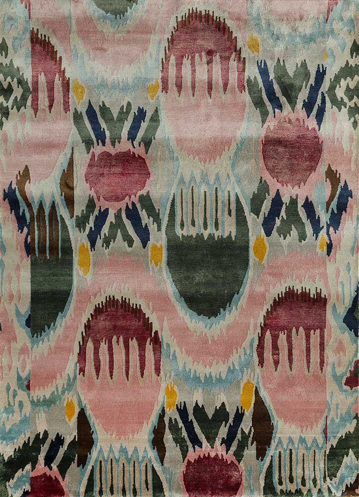 AIBS-5001 Candy Pink/White pink and purple bamboo silk tibetan Rug